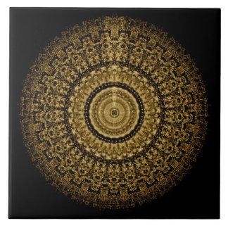 Sepia Mandala Tile タイル