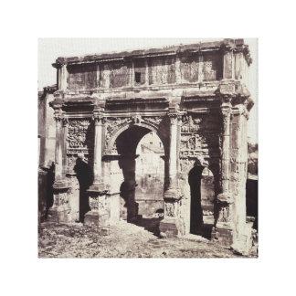 Septimius Severusのアーチ キャンバスプリント