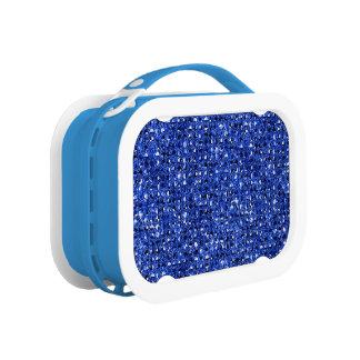 Sequinnedの青いきらきら光るな効果 ランチボックス