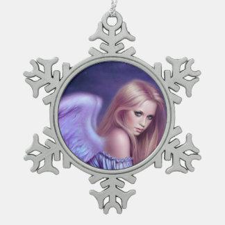 Seraphinaの守り神の雪片のオーナメント スノーフレークピューターオーナメント