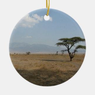 Serengetiの平野 セラミックオーナメント