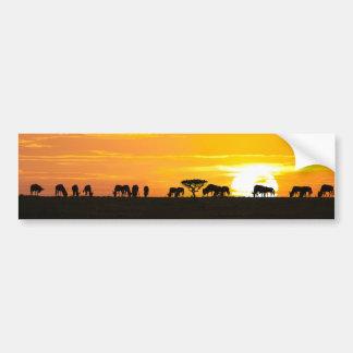 Serengetiの日没 バンパーステッカー