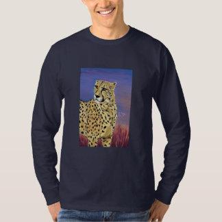 Serengetiの長袖のティー海軍の朝 Tシャツ