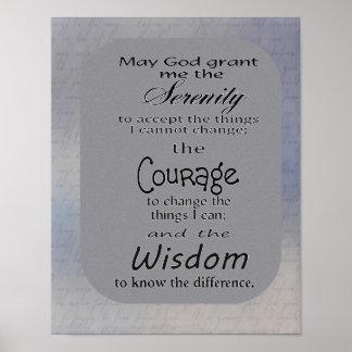 Serenity Prayer -- print ポスター