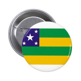 Sergipeの旗 5.7cm 丸型バッジ