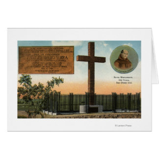Serra記念碑、古い町サンディエゴの眺め カード