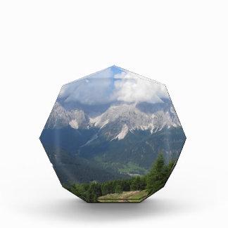 Sestoのドロマイトの高山の景色、イタリア 表彰盾