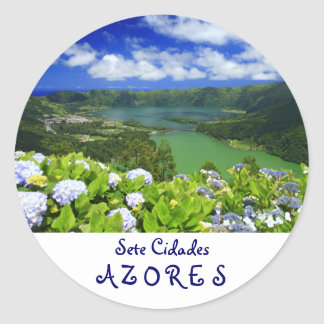 Sete Cidades、アゾレス ラウンドシール