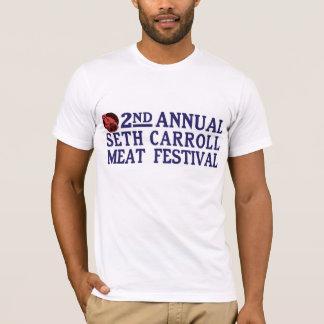 Seth Carroll肉フェスティバルの人のティー Tシャツ