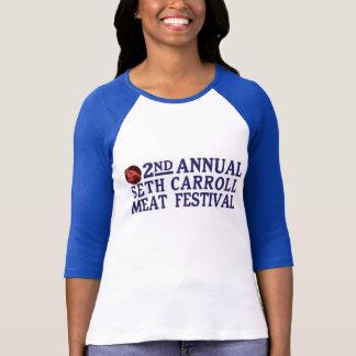 Seth Carroll肉フェスティバルの女性ティー Tシャツ