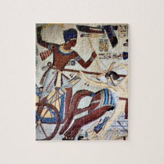 Seti Iの強打のリビアの侵略者のパズル ジグソーパズル
