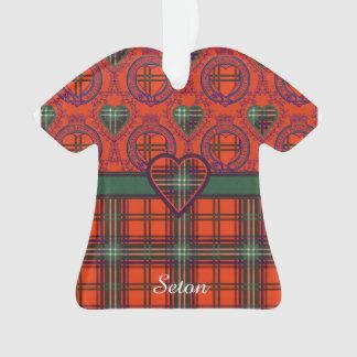 Setonの一族の格子縞のスコットランド人のタータンチェック オーナメント