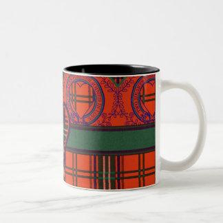 Setonの一族の格子縞のスコットランド人のタータンチェック ツートーンマグカップ