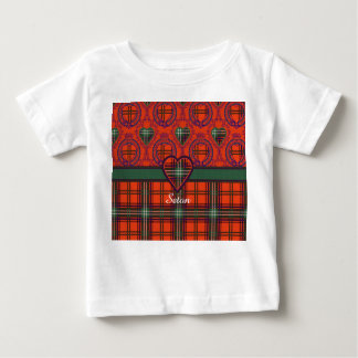 Setonの一族の格子縞のスコットランド人のタータンチェック ベビーTシャツ