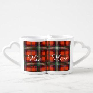 Setonの一族の格子縞のスコットランド人のタータンチェック ペアカップ