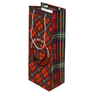 Setonの一族の格子縞のスコットランド人のタータンチェック ワインギフトバッグ