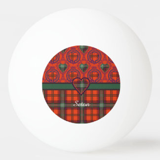 Setonの一族の格子縞のスコットランド人のタータンチェック 卓球ボール