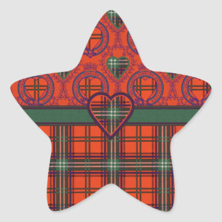 Setonの一族の格子縞のスコットランド人のタータンチェック 星シール