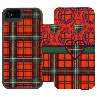 Setonの一族の格子縞のスコットランド人のタータンチェック Incipio Watson™ iPhone 5 ウォレット ケース