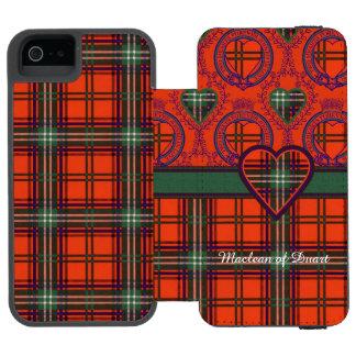 Setonの一族の格子縞のスコットランド人のタータンチェック Incipio Watson™ iPhone 5 財布 ケース