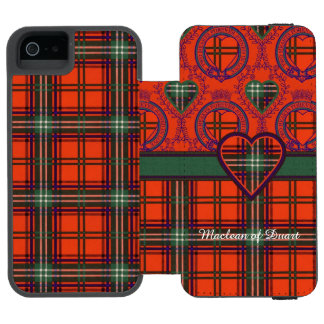 Setonの一族の格子縞のスコットランド人のタータンチェック iPhone SE/5/5sウォレットケース