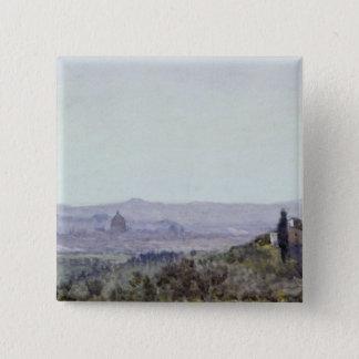 Settignanoからのフィレンツェ 5.1cm 正方形バッジ