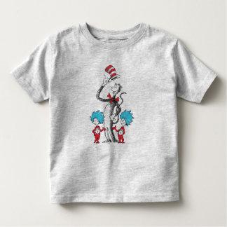 Seuss先生 帽子、事1及び事2の猫 トドラーTシャツ