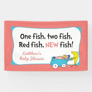 Seuss先生| 1匹の魚-女の子のベビーシャワー 横断幕