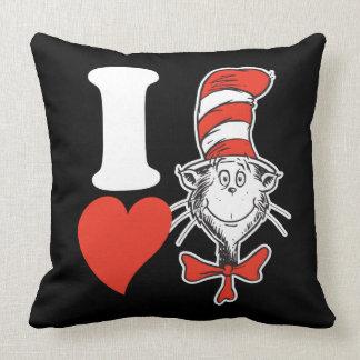 Seuss Valentine | I先生のハート帽子の猫 クッション