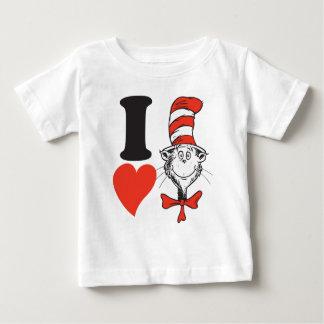 Seuss Valentine | I先生のハート帽子の猫 ベビーTシャツ
