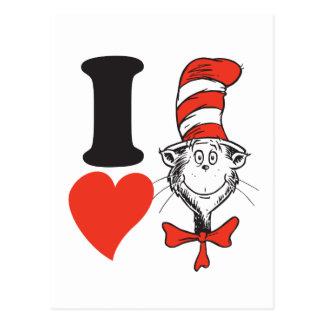 Seuss Valentine | I先生のハート帽子の猫 ポストカード