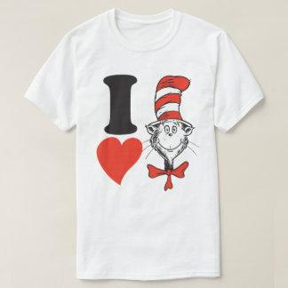 Seuss Valentine | I先生のハート帽子の猫 Tシャツ