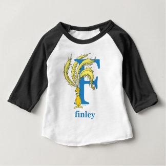 Seuss's ABC先生の: 手紙F -青|はあなたの名前を加えます ベビーTシャツ