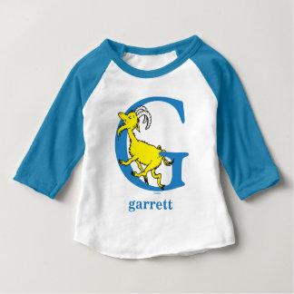 Seuss's ABC先生の: 手紙G -青|はあなたの名前を加えます ベビーTシャツ