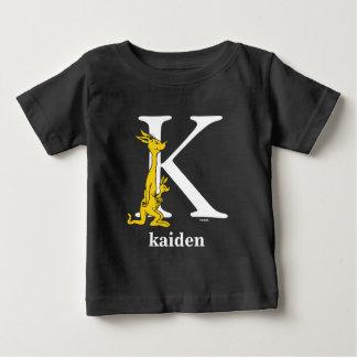 Seuss's ABC先生の: 手紙K -白|はあなたの名前を加えます ベビーTシャツ