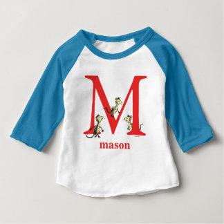 Seuss's ABC先生の: 手紙M -赤|はあなたの名前を加えます ベビーTシャツ