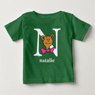 Seuss's ABC先生の: 手紙N -白|はあなたの名前を加えます ベビーTシャツ