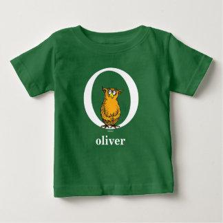Seuss's ABC先生の: 手紙O -白|はあなたの名前を加えます ベビーTシャツ
