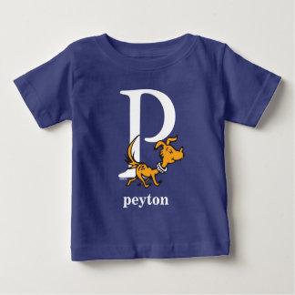 Seuss's ABC先生の: 手紙P -白|はあなたの名前を加えます ベビーTシャツ