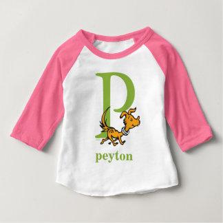 Seuss's ABC先生の: 手紙P -緑|はあなたの名前を加えます ベビーTシャツ
