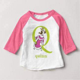 Seuss's ABC先生の: 手紙Q -緑|はあなたの名前を加えます ベビーTシャツ