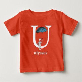 Seuss's ABC先生の: 手紙U -白|はあなたの名前を加えます ベビーTシャツ