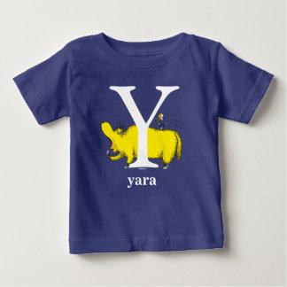 Seuss's ABC先生の: 手紙Y -白|はあなたの名前を加えます ベビーTシャツ