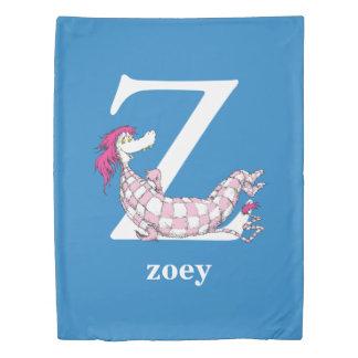 Seuss's ABC先生の: 手紙Z -白|はあなたの名前を加えます 掛け布団カバー
