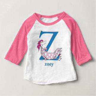 Seuss's ABC先生の: 手紙Z -青|はあなたの名前を加えます ベビーTシャツ