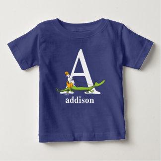 Seuss's ABC先生の: 文字を入れて下さいAに-白|はあなたの名前を加えます ベビーTシャツ