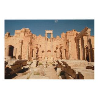 Severanのバシリカ会堂、Leptisのマグナ、Al Khums 2 ウッドウォールアート