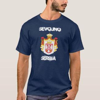 Sevojno、紋章付き外衣が付いているセルビア Tシャツ