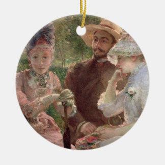 Sevresの台地、1880年(キャンバスの油) セラミックオーナメント