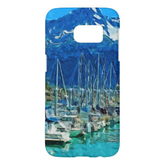 Sewardアラスカの抽象的な印象主義の港 Samsung Galaxy S7 ケース